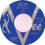 "45 Re ✦MIKE WAGGONER✦""Baby Baby /Basher#5"" All Time Favorite Guitar Rocker.Hear♫"